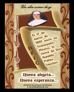 hfic hermanas franciscanas de la inmaculada concepción sierva de Dios Humilde Patlán Sanchez 4